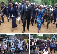 Marche à pied, défilé motorisé, le Bandundu a battu le pavé pro-Kabila. DE PAULIN.